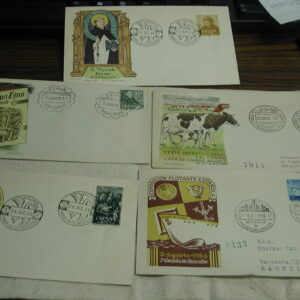 Spain First Day Covers lot of 5 dated 1950's nice condition