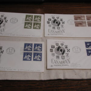 Canada 1967-70 First Day Covers lot of 41 Cached, Pencil addressed