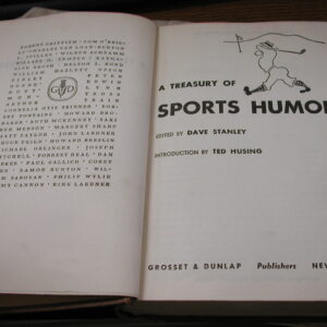 A Treasury of Sports Humor Grosset Dunlap Lantern Press Dave Stanley 1946