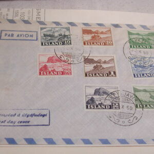 Iceland 1950 and 1957 complete stamp set Lot of Two