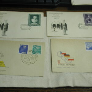 Poland First Day Covers lot of 13 dated 1956 1957
