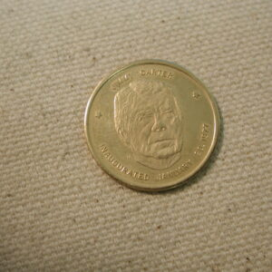 1977 Jimmy Carter Gold Medal 39th Proof like .417 3.2 grams gold