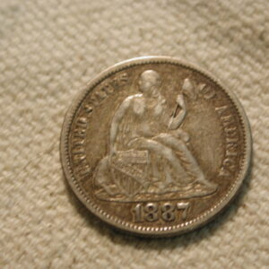 1887-S U.S Liberty Seated Dime Variety 4 About Uncirculated