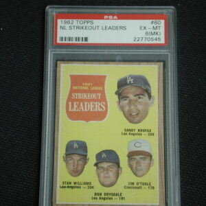 1962 Topps Sandy Koufax strike out leaders # 60 PSA 6 (MK)