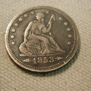1853 U.S. Liberty Seated Quarter Arrows & Rays Very Fine