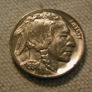 1938-D Five Cent Buffalo Nickel Uncirculated