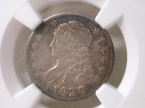 1820 Small O 10C Capped Bust Dime JR-2 NGC XF Details