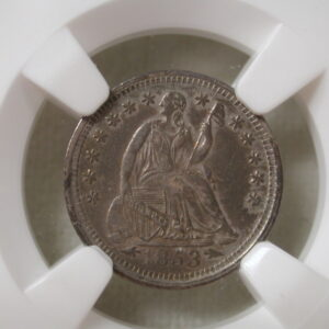 1853 Arrows H10C Liberty Seated Half Dime NGC Au Details