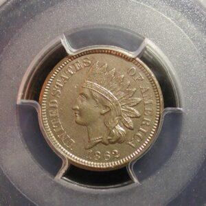 1862 1C Indian Cent PCGS Certified AU Details
