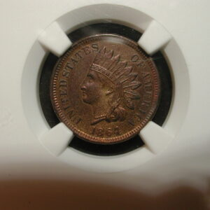 1864 Bronze Indian Head Penny NGC Certified UNC Details