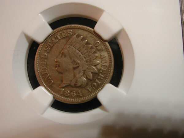1864 Copper Nickel 1 Cent Indian NGC Certified XF Details
