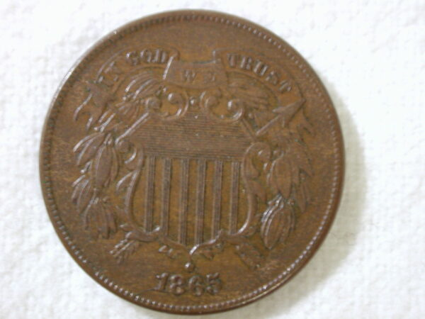 1865 U.S Two-Cent Piece Uncirculated