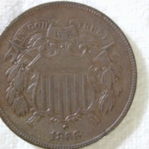 1866 U.S Two-Cent Piece Uncirculated