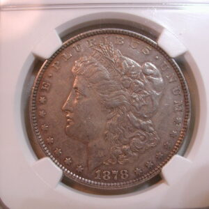1878 8TF Morgan Silver Dollar $1 Certified NGC AU Details