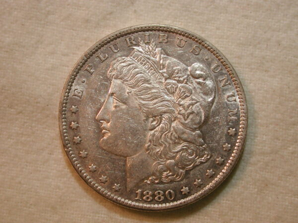 1880-O US Morgan Silver Dollar AU/UNC