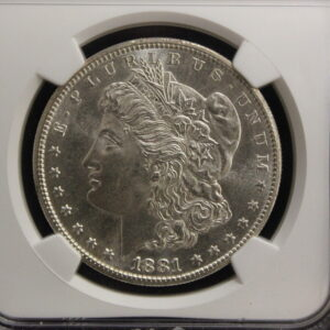 1881-S Morgan Silver Dollar NGC MS 64 Bright White Lusterous