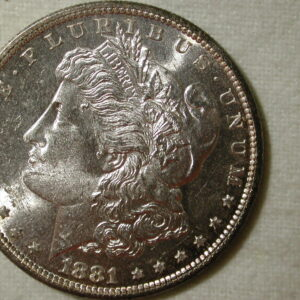 1881-S U.S Morgan Silver Dollar Gem Choice Uncirculated