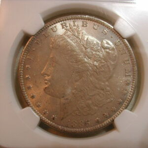 1885 O Morgan Silver Dollar $1 NGC MS64 mushroom toned