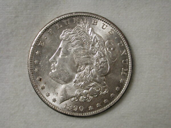 1890-S US Morgan Silver Dollar Choice Uncirculated