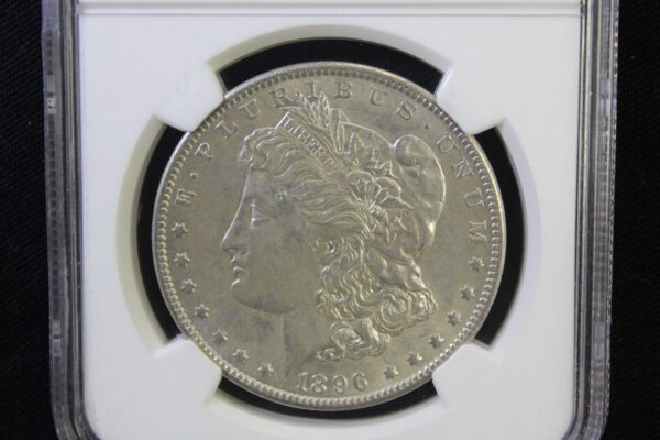 1896 O Morgan Silver Dollar $1 NGC AU 55 Lusterous and white