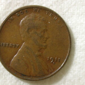 1911-S U.S Lincoln Wheat Cent Very Good