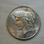 1922 US Peace Silver Dollar Choice Uncirculated doubled date