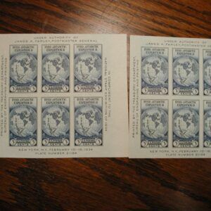1934 Byrd Antarctic EXPEDITION Scott #735 3C STAMP souvenir sheet set of two