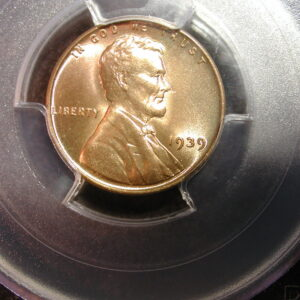 1939 Lincoln Penny PCGS MS 65 RD RED Super Luster