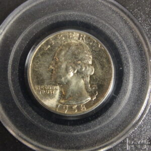 1958 25C Washington Quarter PCGS MS 66 toned obverse