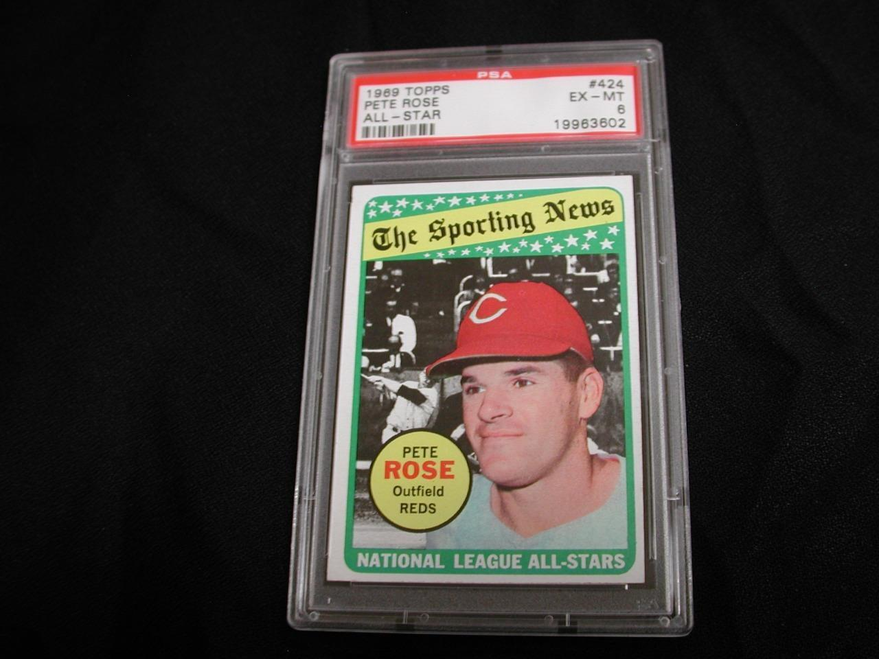 1969 Topps Pete Rose All-Star # 424 PSA EX-MT 6