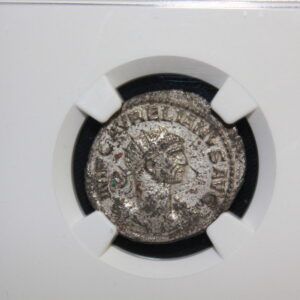 Aurelian AD 270-275 ROMAN EMPIRE NGC AU BI Double Denarius Women offers wreath