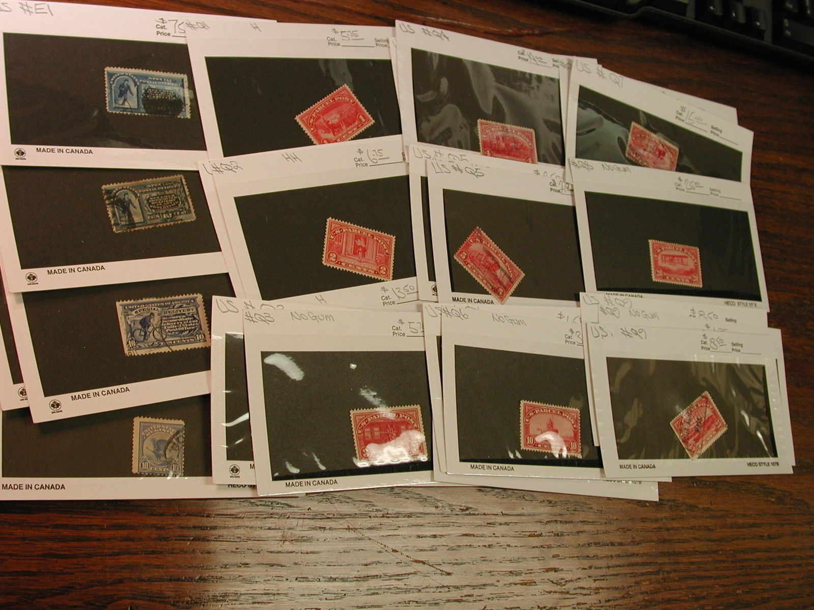 Back of Book, Parcel Post, special Delivery Stamps Mint & Used Dealers Lot of 27