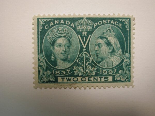 CANADA #52 - Queen Victoria Jubilee 1897 Two Cent - Green - Used VLH