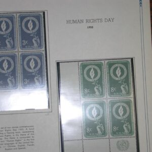 Collection of UN Margin Blocks from 1950-1959 All CPL Sets Stamps NH - 18 pages