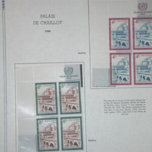 Collection of UN Margin Blocks from 1960-1964 All CPL Sets Stamps NH - 30 pages
