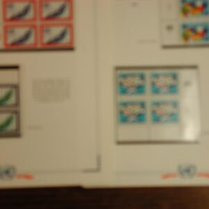 Collection of UN Margin Blocks from 1965-1970 CPL Sets Stamps All NH - 43 pages