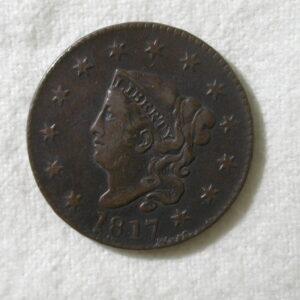 1817 U.S. Large Cent Coronet Type 13 Stars