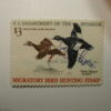 US Department of Interior Scott #RW36 $3 White-Winged Scotters Duck Stamp 1966, Used & Signed