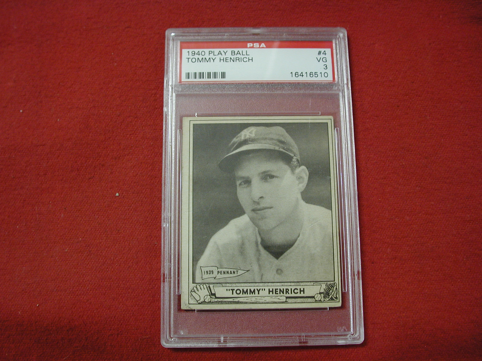 Tommy Henrich Yankees 4 1940 Play Ball Psa Certified