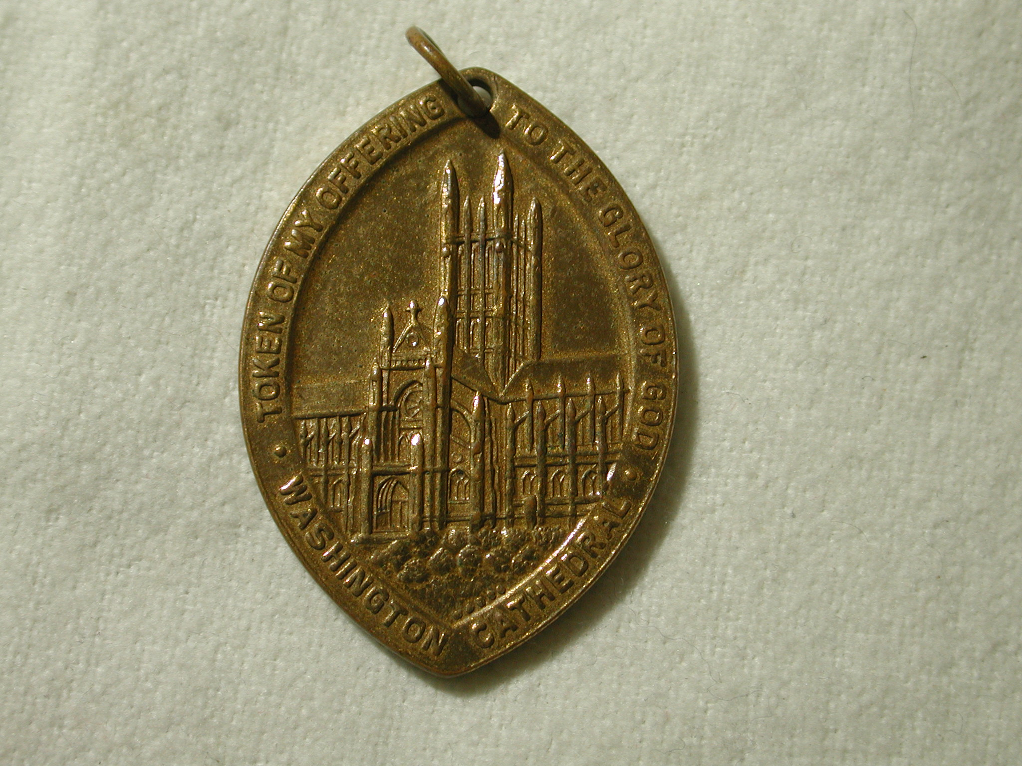 1893 Washington Cathedral of St. Peter and St. Paul Offering Metal with pendant bale