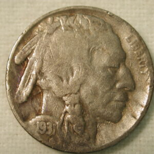 1931-S U.S. Five Cent Buffalo Nickel Very Good