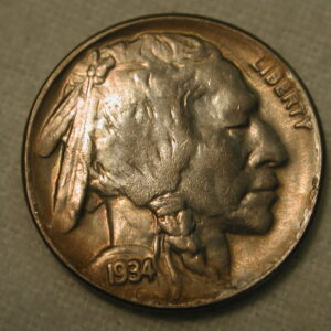 1934-D U.S. Five Cent Buffalo Nickel