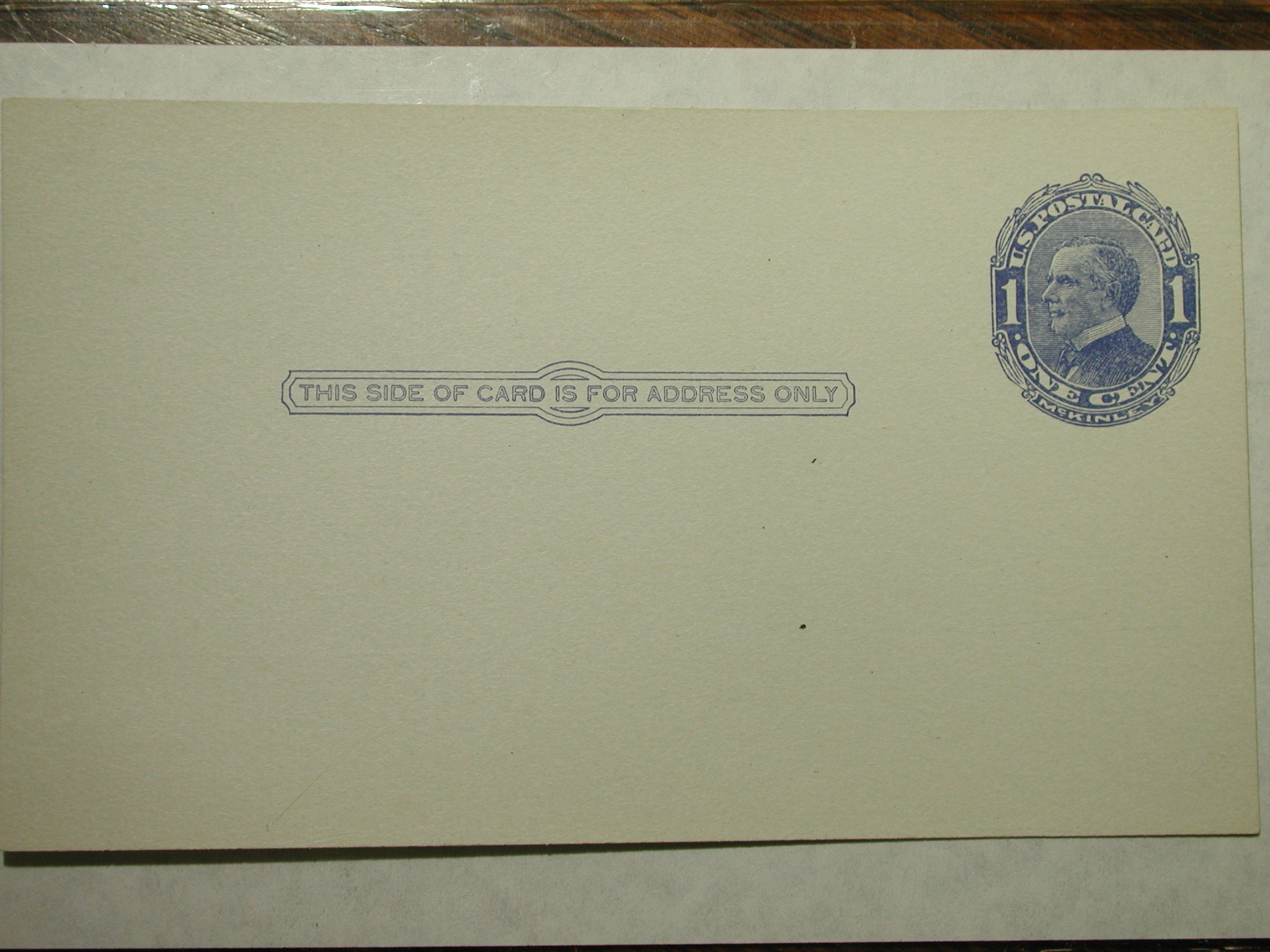 U.S. Postal Card, UX 21, 1c McKinley with Shaded Background 1910 /PO Fresh Crisp - Cat Val $150