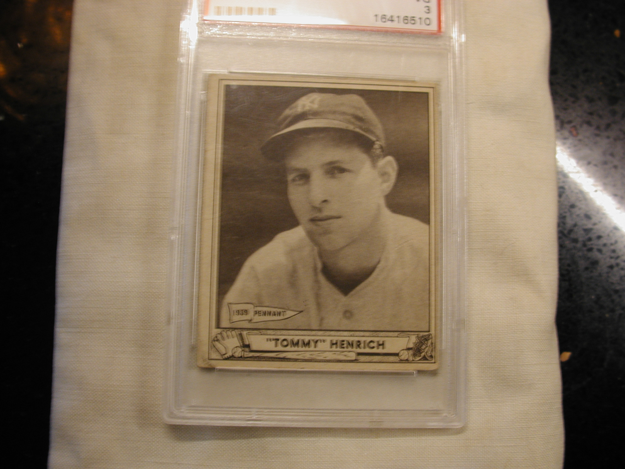 Tommy Henrich Yankees 4 1940 Play Ball Psa Certified Baseball Card