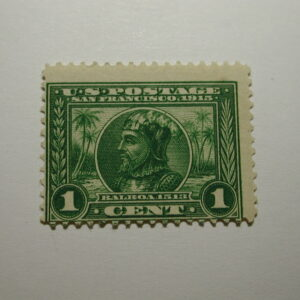U.S. Scott #397 - 1 Cent Pan Pacific Expo 1913 Stamp /Hinged