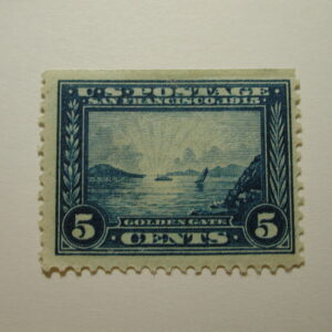 U.S. Scott #399 - 5 Cent Panama Pacific commemorative 1913 Stamp/LH