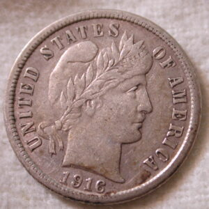 1916-S U.S. Barber Dime Extremely Fine