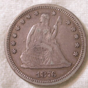 1876 U.S. Liberty Seated Quarter Very Fine