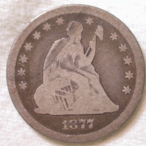 1877-CC U.S. Liberty Seated Quarter Very Good