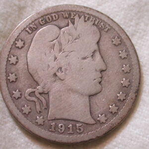 1915-S U.S. Barber Quarter Type Very Good